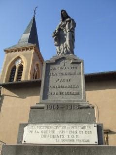 Les monuments aux morts, calvaires et hommages de Metz-Magny