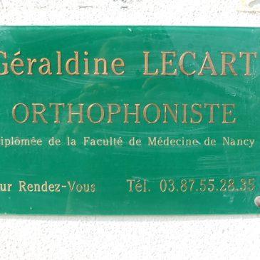 ORTHOPHONISTE Géraldine LECART