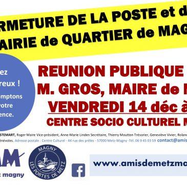 Réunion publique avec le Maire de Metz vendredi 14 décembre